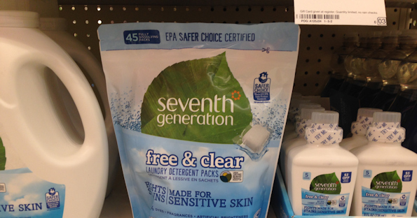 picture regarding Seventh Generation Printable Coupons titled 7th Creation Laundry Packs at Emphasis for $6.39 with