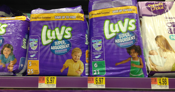 image about Luvs Printable Coupons named Luvs Diapers at Walmart for $4.97 with Coupon codes - Printable