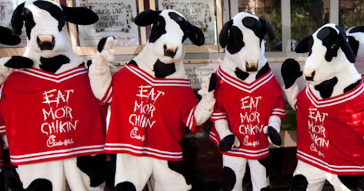 Free Entree During Chick-fil-A Cow Appreciation Day
