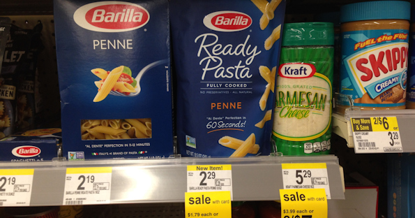 image about Barilla Printable Coupons referred to as Barilla Well prepared Pasta at Walgreens for $0.50 with Coupon
