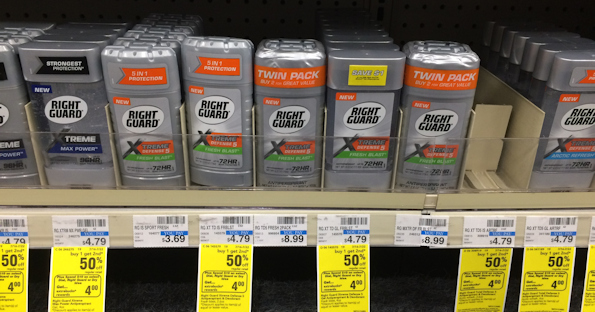 photo about Right Guard Printable Coupon referred to as Instantly Shield Xtreme Deodorant at CVS for $0.25 Each individual