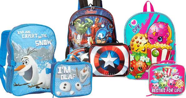 Kids School Backpack & Lunch Bag Sets under $12.99 Shipped