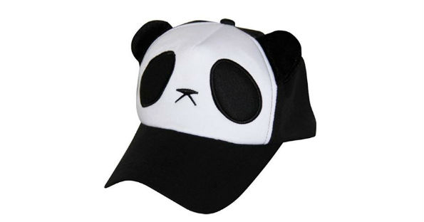 a7c04a87636 Choose one of three different colors for this adorable snapback Panda baseball  cap. It comes in black and white