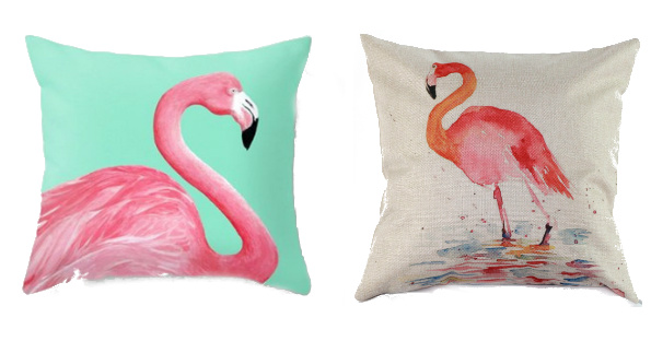 Flamingo Throw Pillow Covers o...