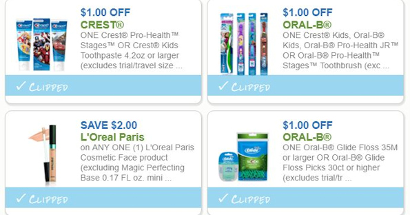image relating to Crest Printable Coupons called LOreal, Crest, BIC Personal savings and Even further - Printable Coupon codes