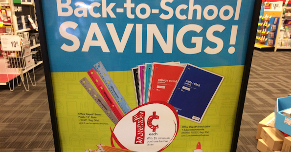 photo regarding School Supplies Coupons Printable referred to as Place of work Depot Penny Bargains - Printable Discount codes