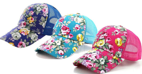 Women's Floral Baseball Caps O...