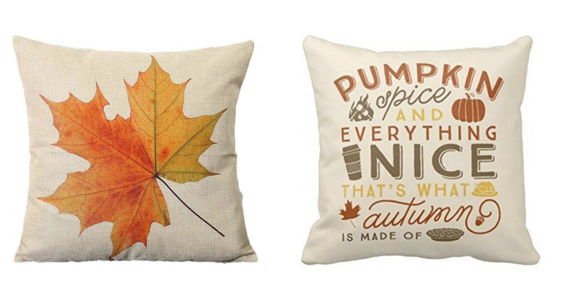 Cute Fall Pillow Covers $2.77.
