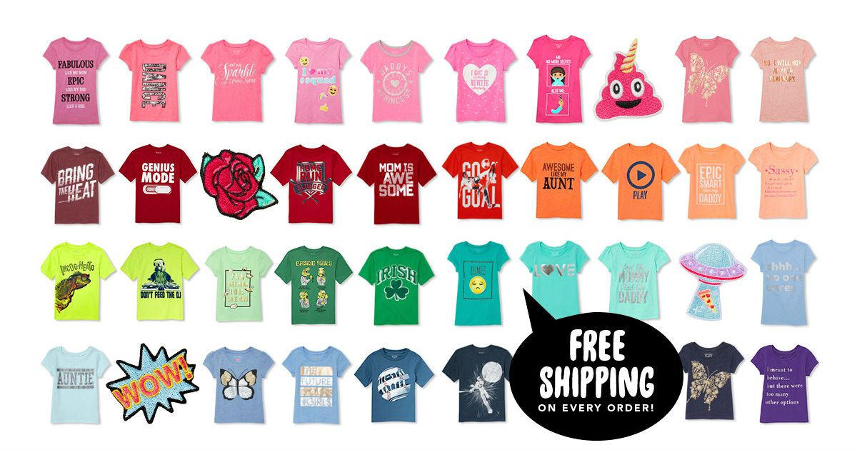 The Children's Place Graphic Tees on Sale $1.99 + Free Shipping