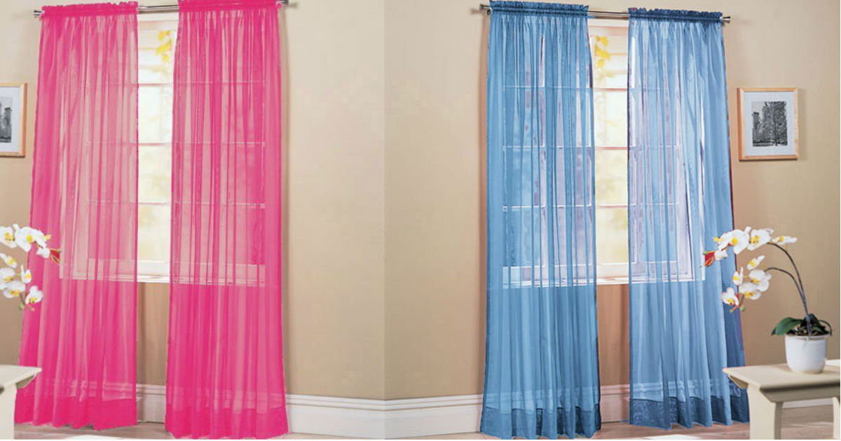 Sheer Curtains Two Piece Sets.