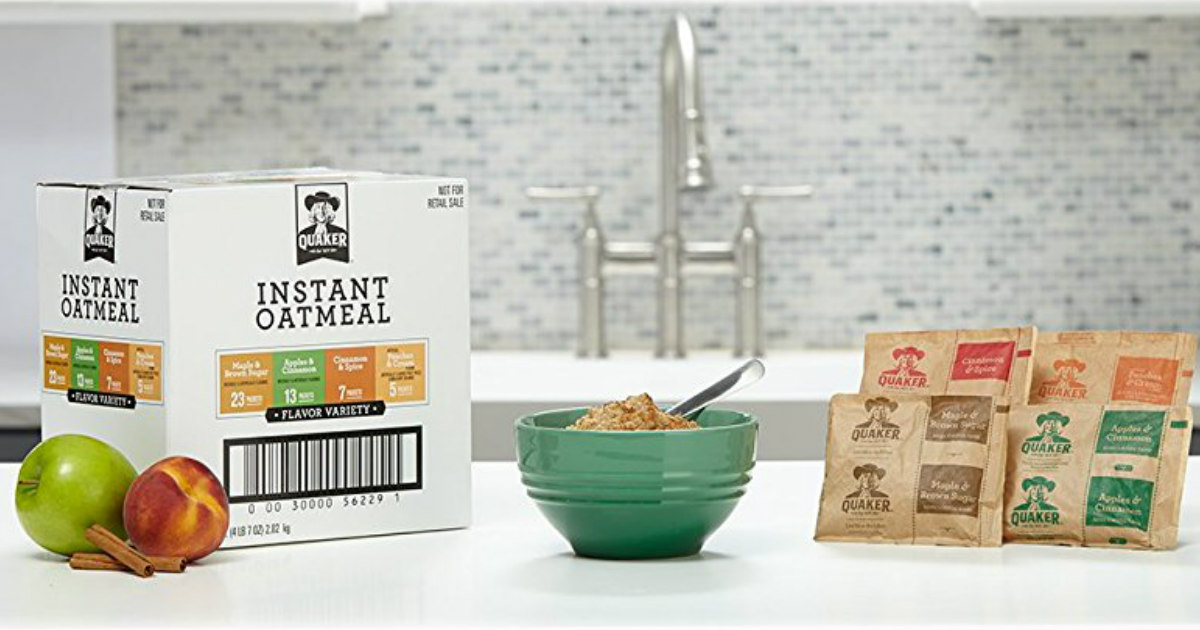 Quaker Instant Oatmeal Variety...