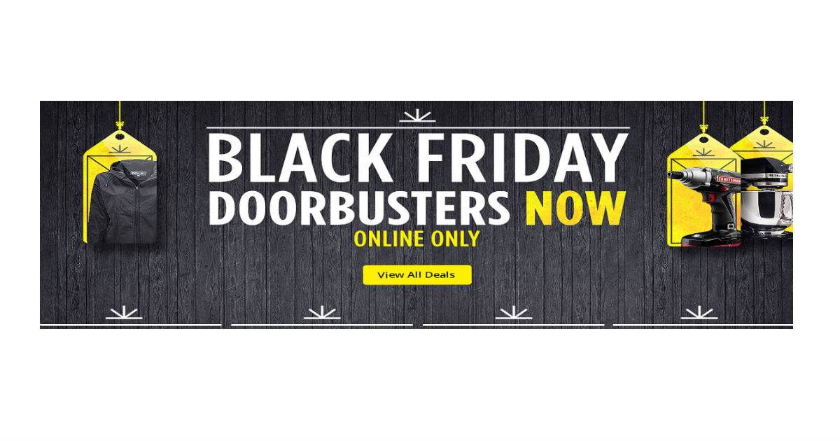 Sears Online Black Friday Deals Are Here Daily Deals Coupons