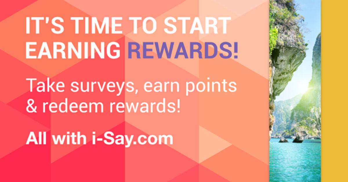 Join Ipsos I-Say for FREE and.