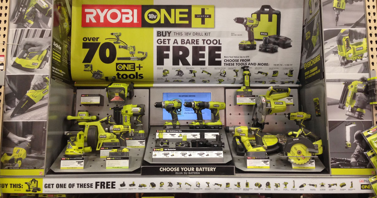 Last Chance! Buy One Ryobi Power Drill, Get One Ryobi Tool