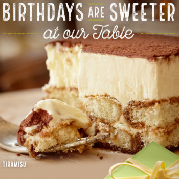 Olive Garden  Sign Up For The Olive Garden Eclub And Receive A Free Birthday  Desert During The Month Of Your Birthday. You Also Get A Free Appetizer Or  ...