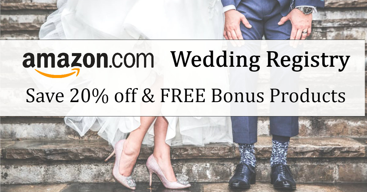 Sign up for an Amazon Wedding.