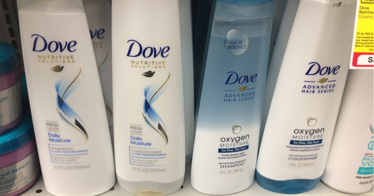 dove shampoo and conditioner at cvs for  1 25 with coupons