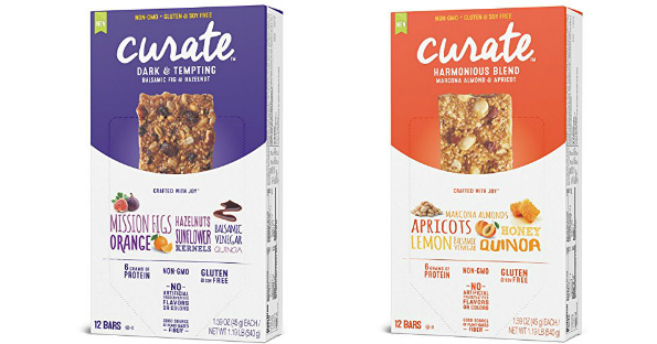 Curate Gluten-Free Snack Bars.