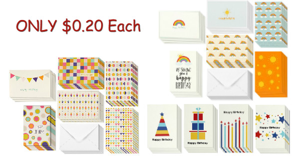 Amazon 48 Assorted Birthday Cards Envelopes 999 Shipped – Assorted Birthday Cards