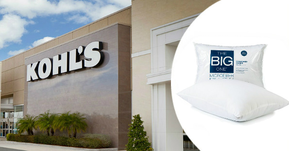Kohl's The Big One Microfiber Pillow $2.99, 75% Off