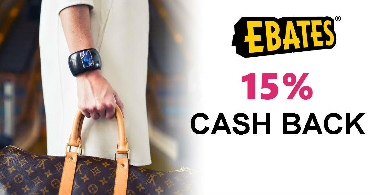 Ebates RARE 15% Cash Back + Fr...