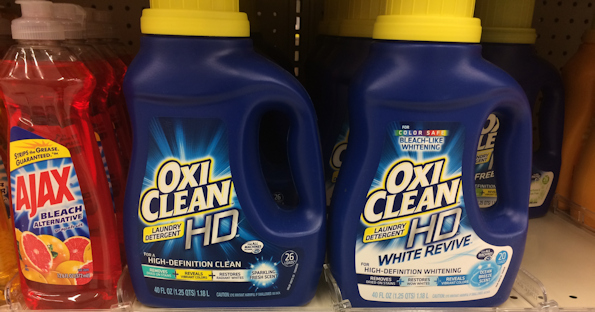 photograph about Oxiclean Printable Coupon called OxiClean Laundry Detergent at Walgreens for $0.99 with